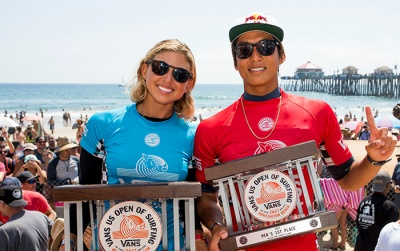 Sage Erickson and Kanoa Igarashi Win Vans US Open of Surfing