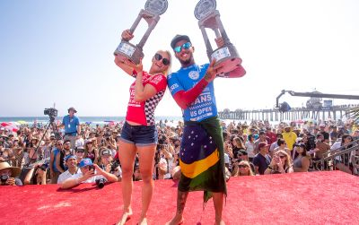 2016 Recap: Tatiana Weston-Webb and Filipe Toledo Crowned US Open of Surfing Champs